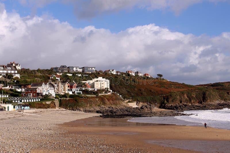 Langlandbaai, Gower, Swansea, Wales, het UK stock foto's