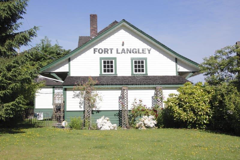 Langley Historic Train Station forte immagine stock