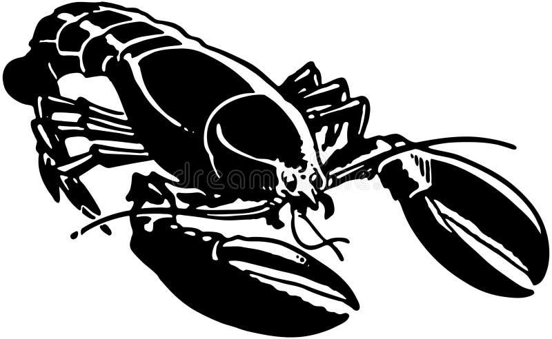 Langoustine illustration de vecteur