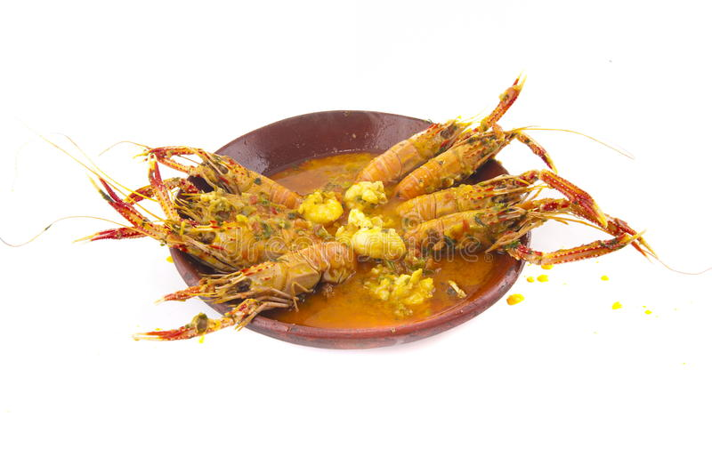 Langoustines Stew royalty free stock photography