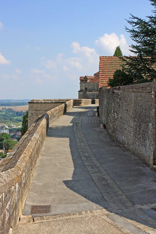 Langres, Frankrijk stock afbeeldingen