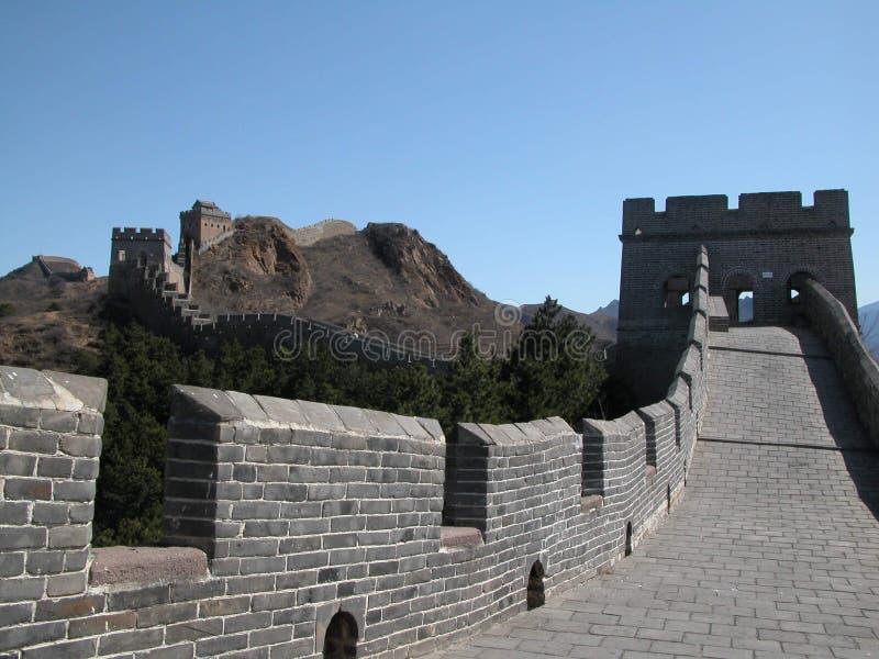 Langs de Grote Muur royalty-vrije stock foto's