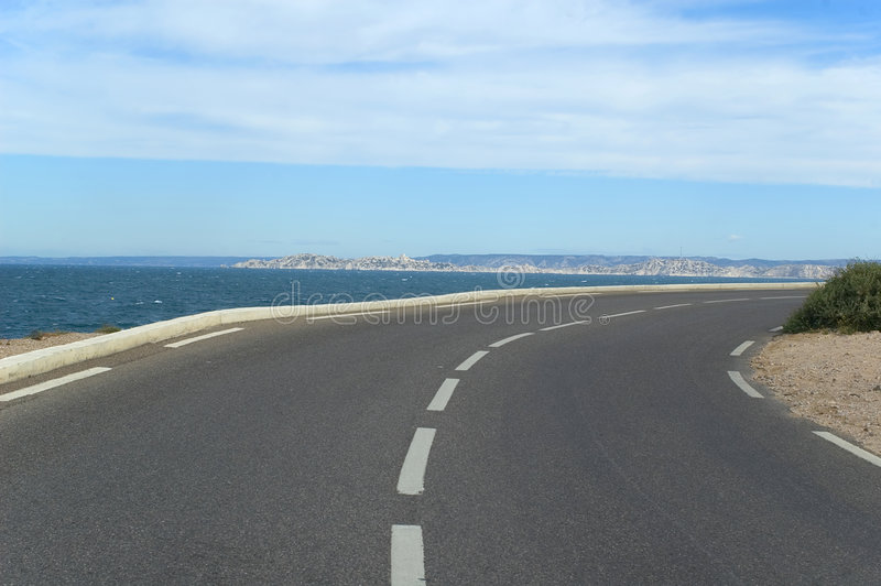 Langs de kust stock afbeelding