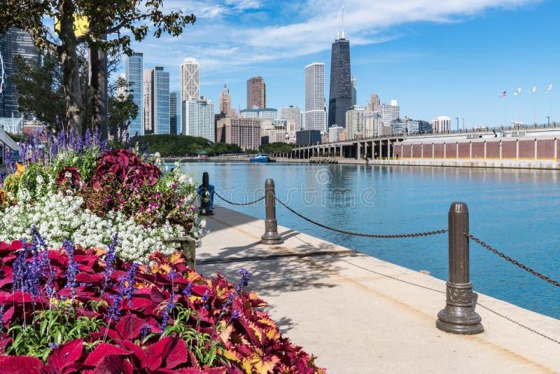 Langs de Pijler van Chicago royalty-vrije stock foto