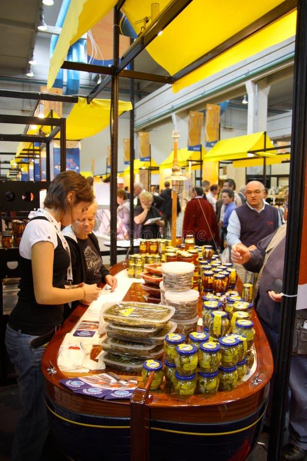 Langsame Nahrung und Terra Madre. Salone Del Gusto 2008 lizenzfreies stockbild