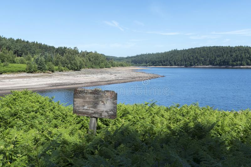 Langsett Reservoir in South Yorkshire on the edge of the Peak District royalty free stock photo