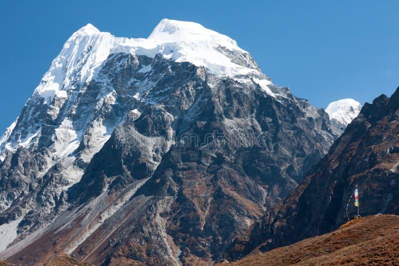 Langshisa maximum (Langshisa Ri), Langtang nationalpark, Rasuwa Dsitrict, Nepal arkivfoto
