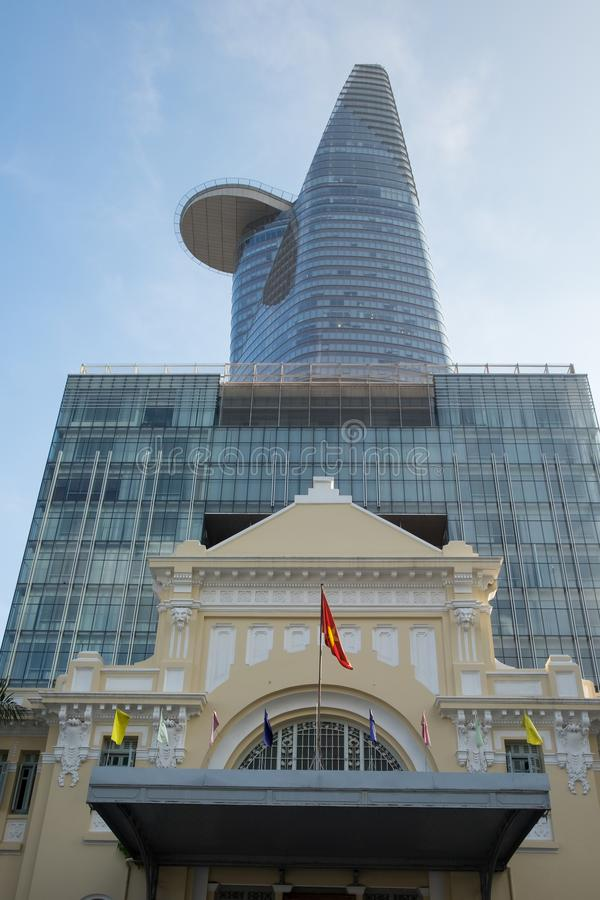 Langste de bouwbitexco Financiële Toren van Ho Chi Minh City ` s Ho Chi Minh City Vietnam royalty-vrije stock foto's