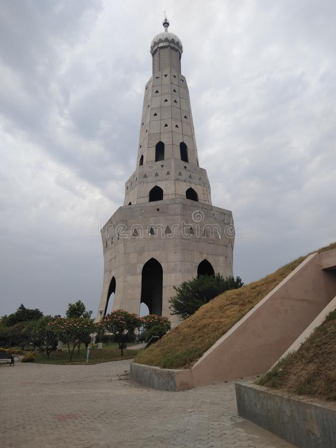 Langste minar - Fateh burj, chapparchiri, Punjab royalty-vrije stock foto's