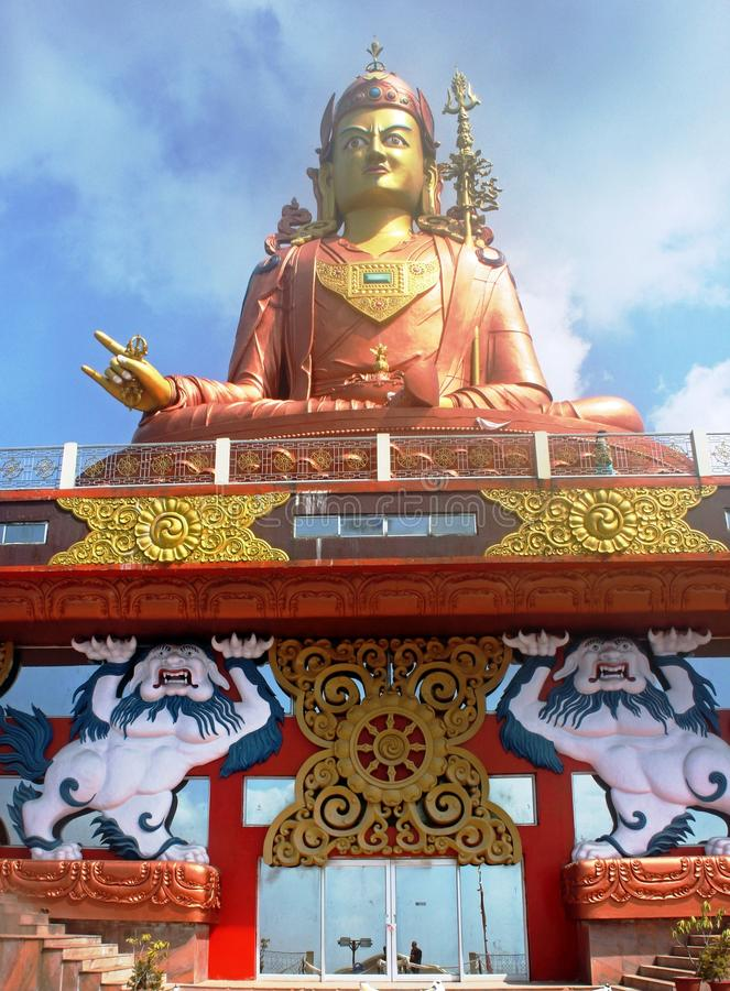 Langste standbeeld van Guru Padmasambhava, Sikkim, India royalty-vrije stock foto