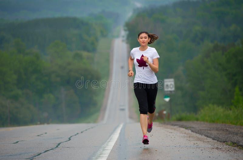 Langstreckenläufer stockbild