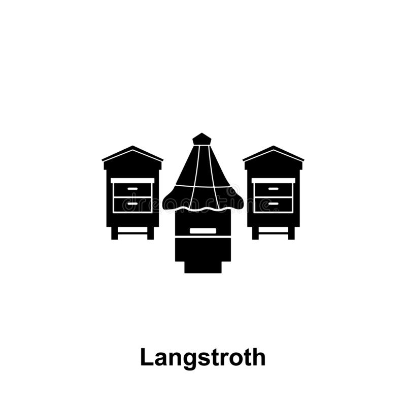 langstroth hive icon. Element of beekeeping icon. Premium quality graphic design icon. Signs and symbols collection icon for royalty free illustration