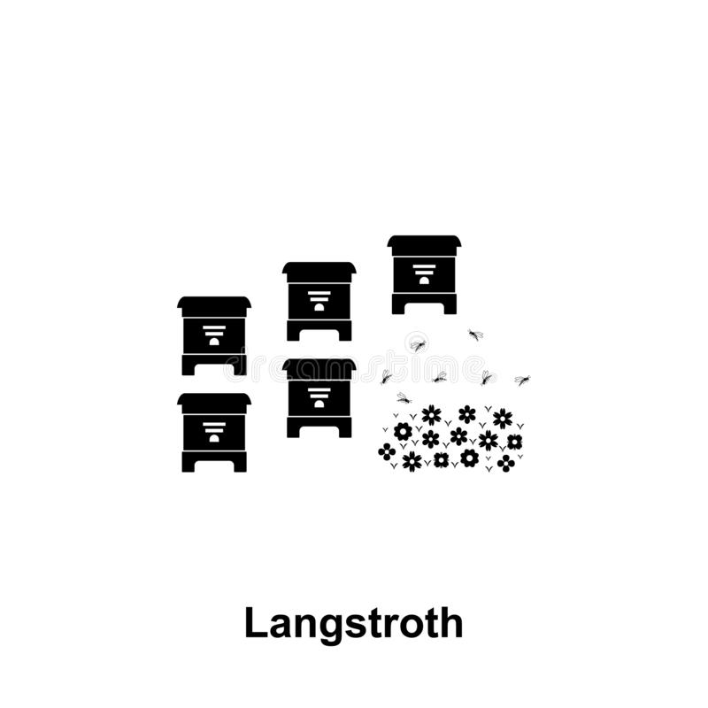 langstroth hive icon. Element of beekeeping icon. Premium quality graphic design icon. Signs and symbols collection icon for vector illustration