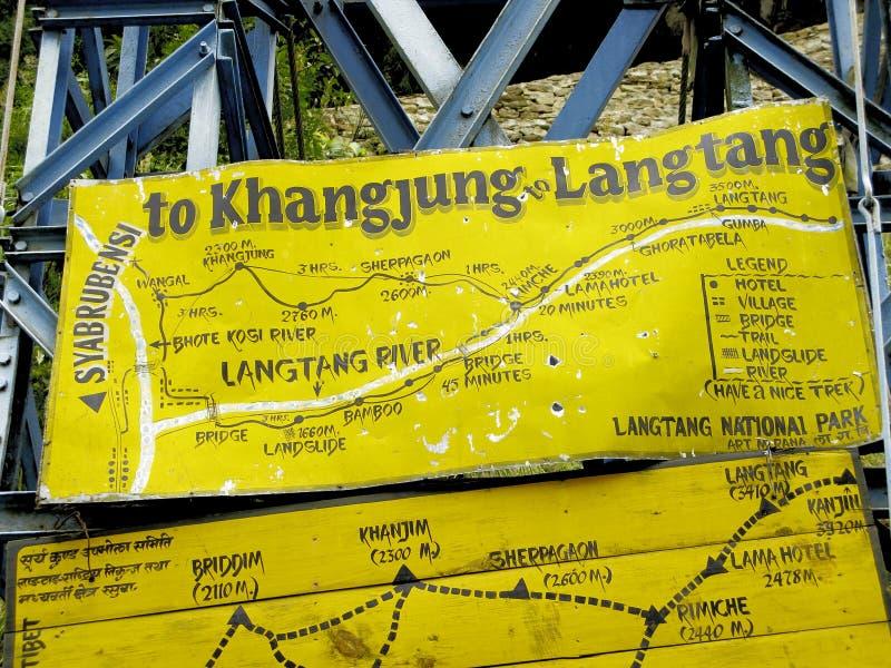 Langtan śladu mapa fotografia royalty free