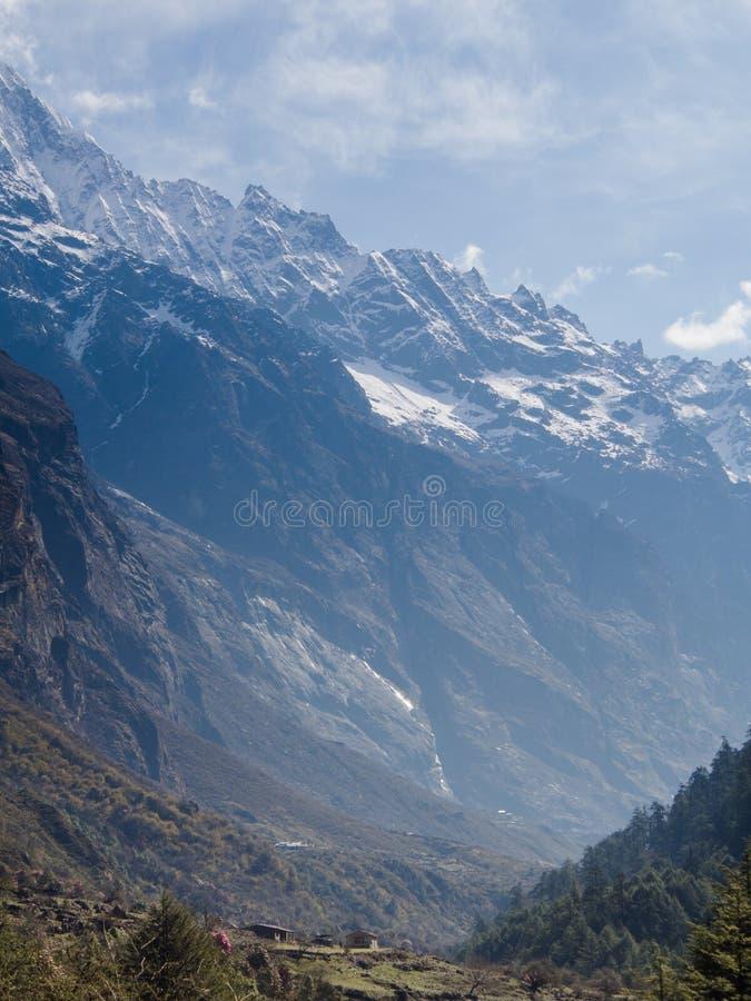 Langtang村庄,尼泊尔 库存图片