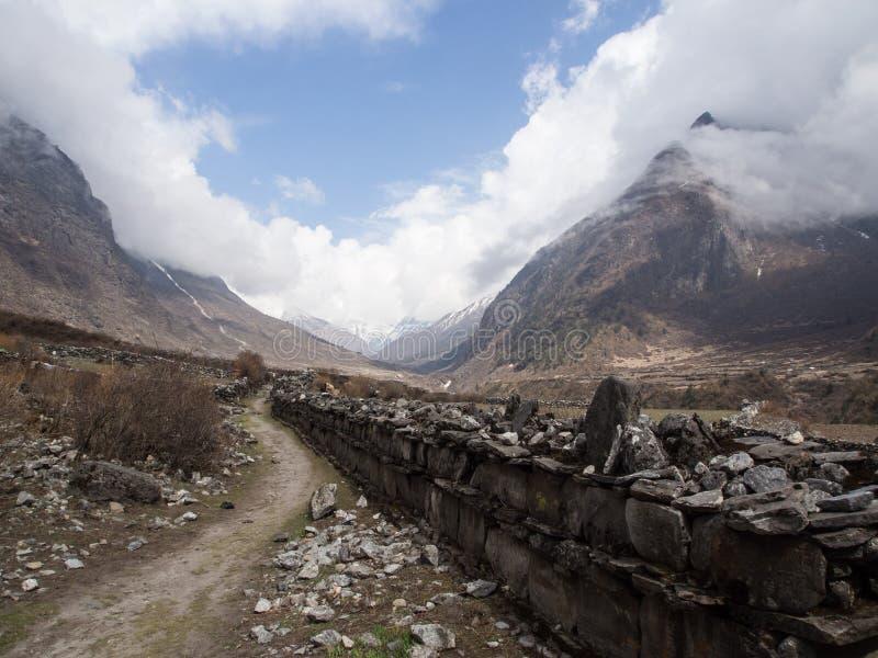 Langtang谷,尼泊尔 免版税库存照片