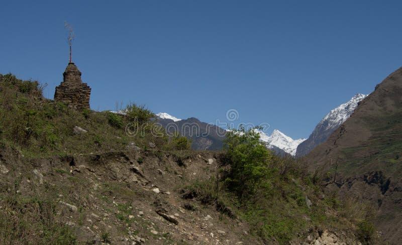 Langtang by, Nepal royaltyfria bilder