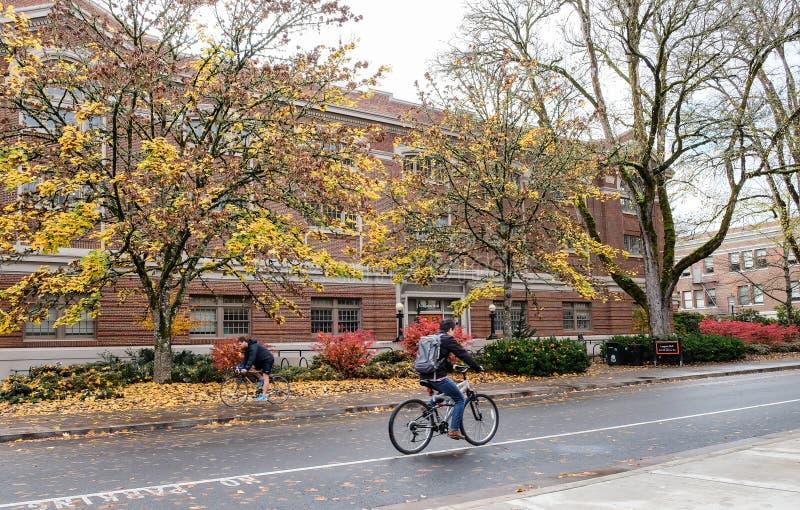 Langton Hall sur le campus universitaire d'état de l'Orégon, Corvallis, O photos stock