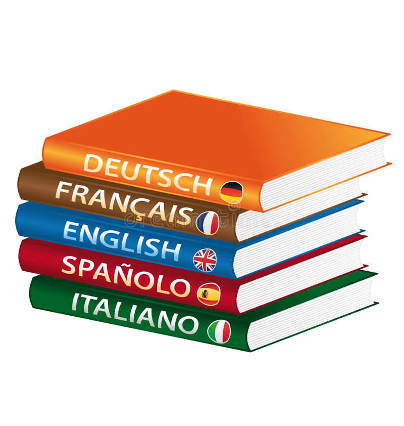 Language books. Isolated vector illustration vector illustration