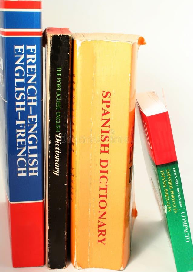 Language dictionaries stock photography