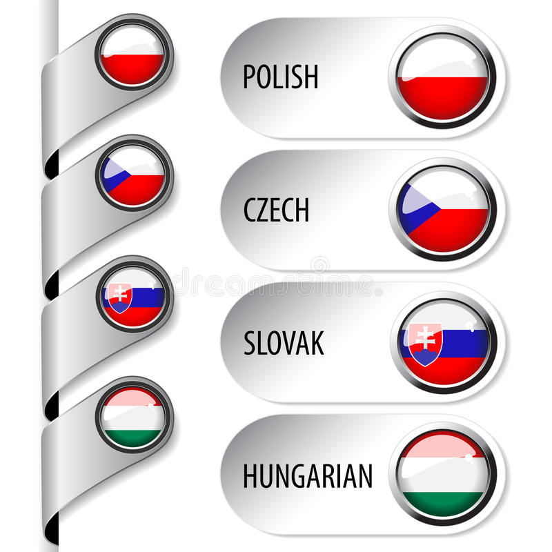 Download Language Pointers With Flag For Web - Set 5 Stock Vector - Image: 34365167