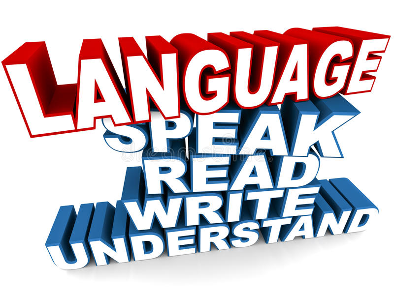 Language. To speak, read, write and understand.  learning concept vector illustration