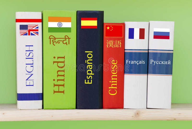 Download Languages stock image. Image of hindi, russian, books - 14325481