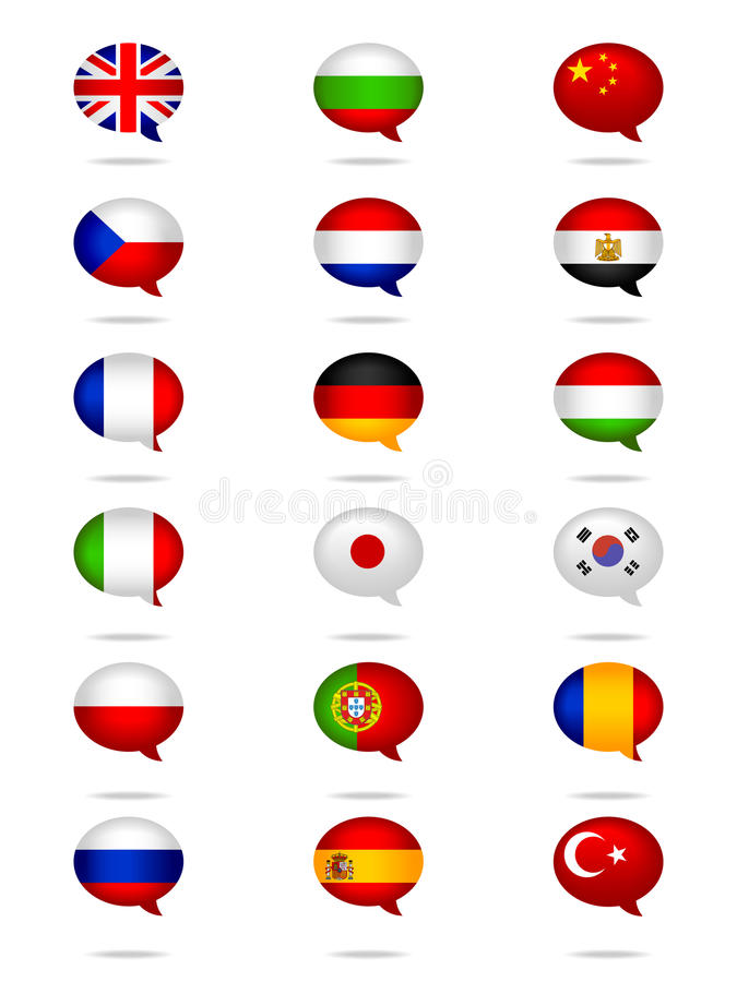 Free Languages Flag Set Stock Images - 30457394