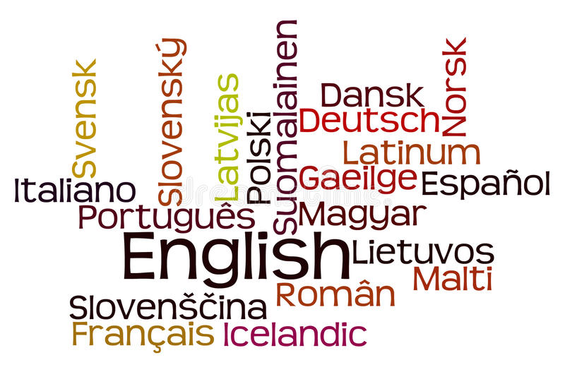 Languages royalty free illustration