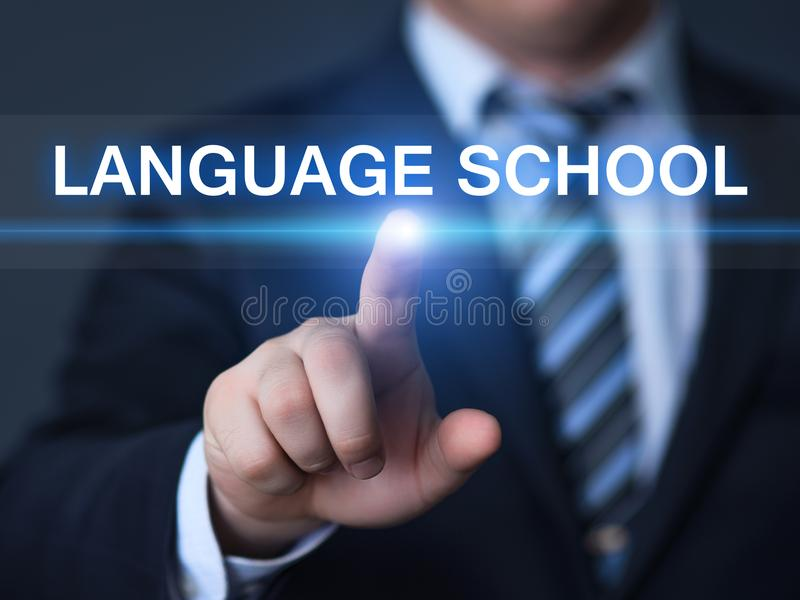 Languange School Online Learning Education Knowledge Business Internet Technology Concept royalty free stock photography