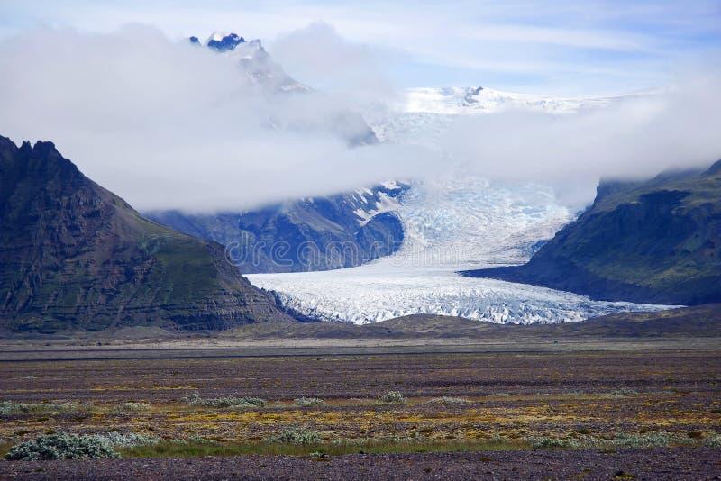Langue de glacier de l'Islande Vatnajokull images libres de droits