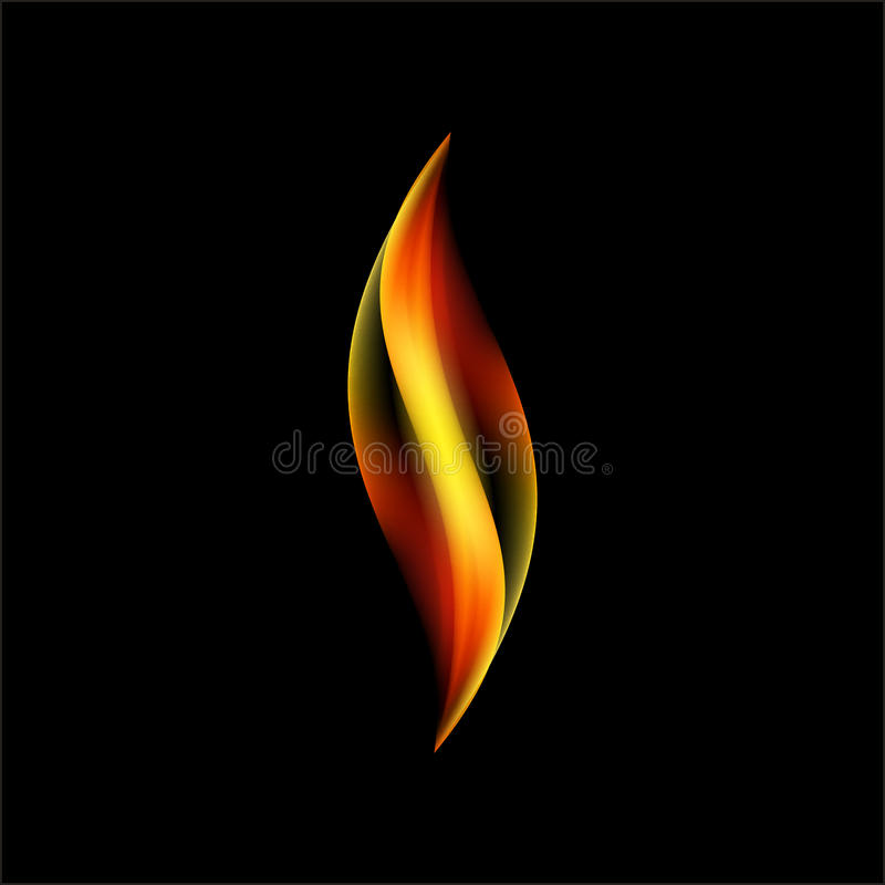 Langue simple de vecteur transparent de torche de flamme illustration libre de droits