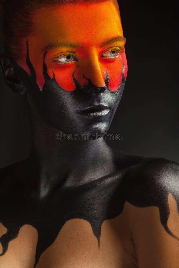 Langues noires de flamme image libre de droits