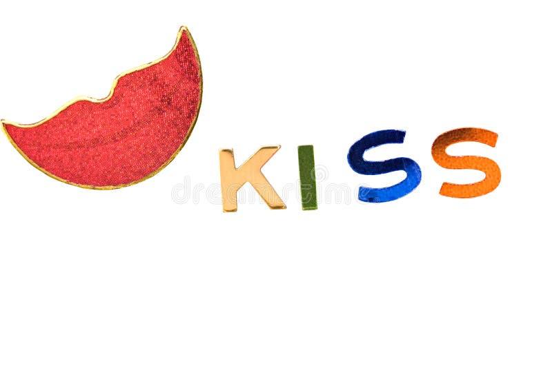 Languettes de baiser photographie stock libre de droits