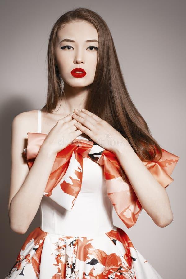Free Languishing Look Young Beautiful Asian Brunette Stock Image - 38695191