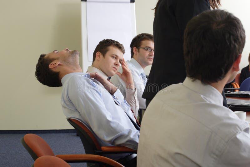 Langweilige Sitzung lizenzfreie stockfotos