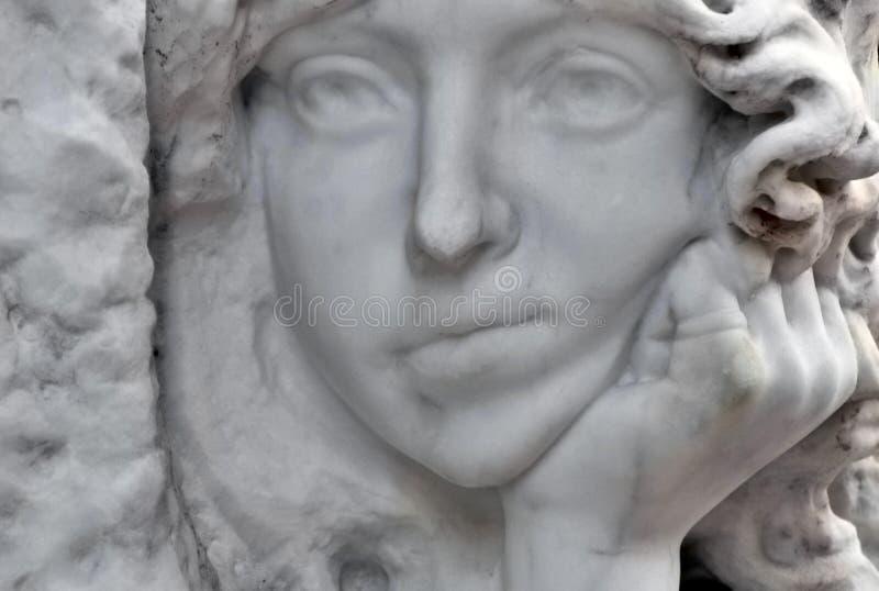 Langweiliges Gesicht eines Engels lizenzfreies stockbild