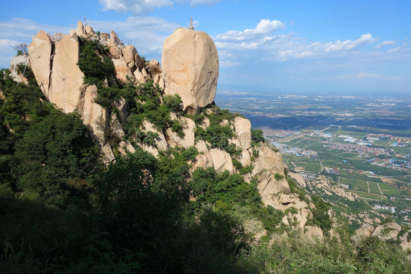 Langya Mountain,China. The foot of the Langya mountain ,Hebei China stock image