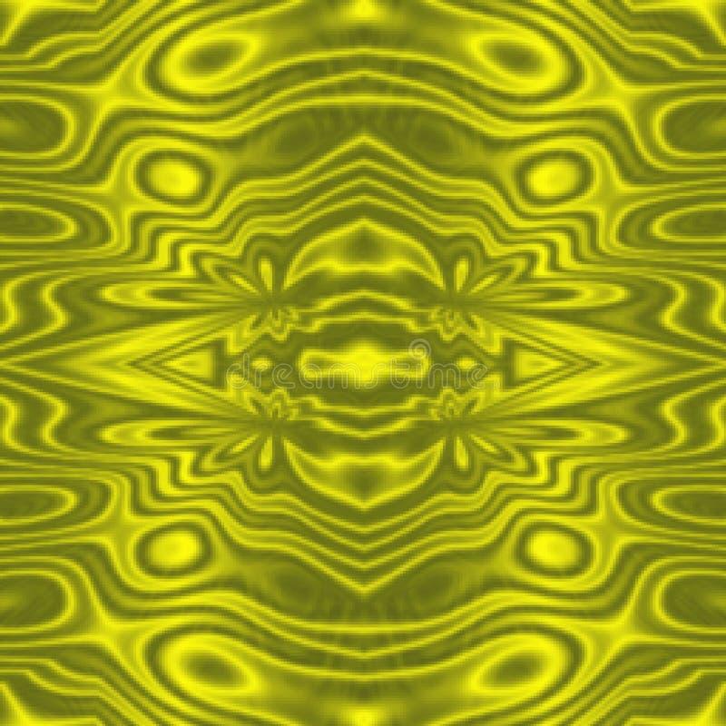Langzaam verdwenen gouden geel stammen abstract patroon als achtergrond stock illustratie