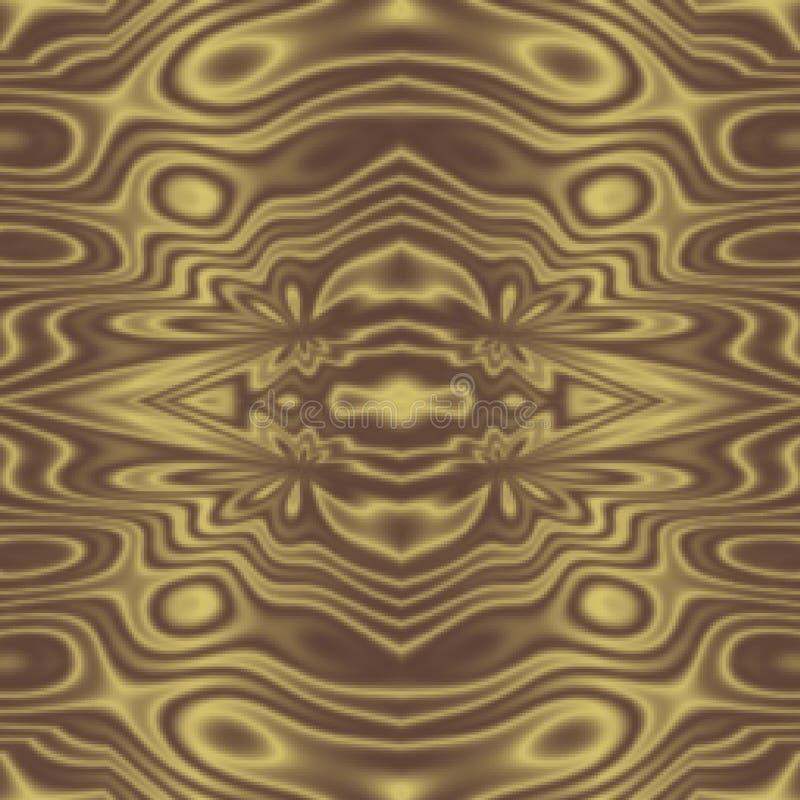 Langzaam verdwenen gouden geel stammen abstract patroon als achtergrond royalty-vrije illustratie
