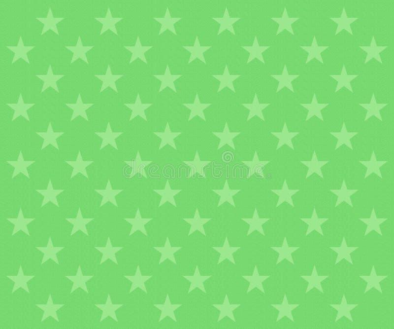 Langzaam verdwenen groen sterrenpatroon stock illustratie