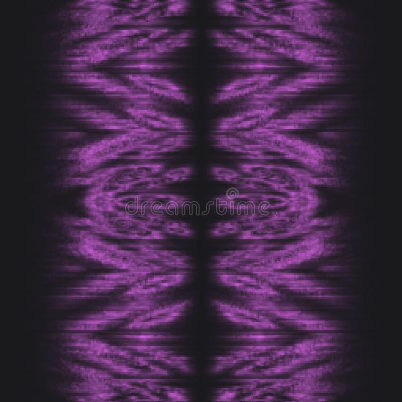 Langzaam verdwenen purper stammen abstract patroon als achtergrond stock illustratie