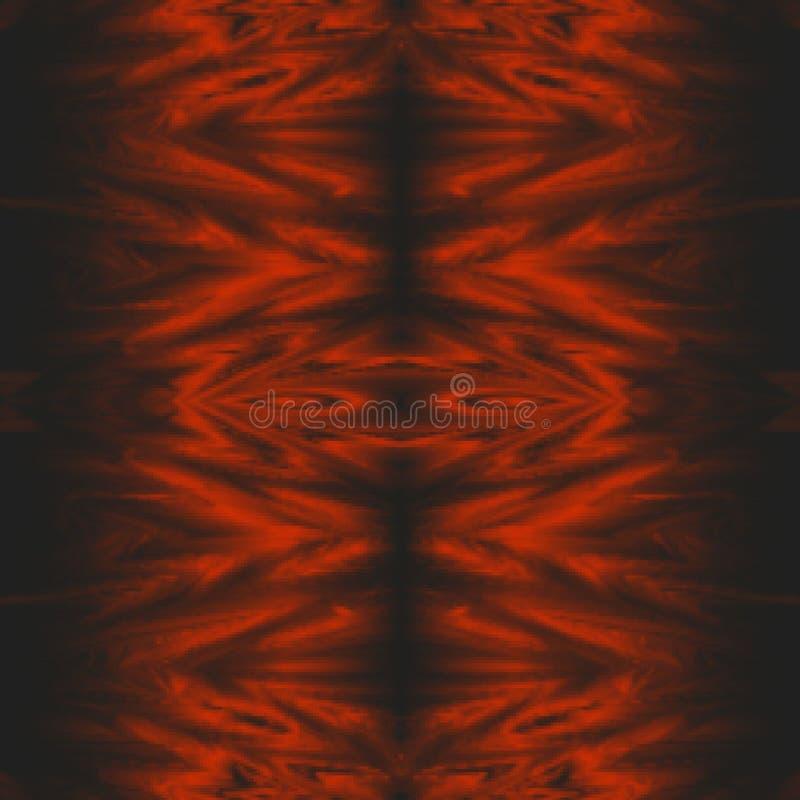 Langzaam verdwenen rood stammen abstract patroon als achtergrond stock illustratie