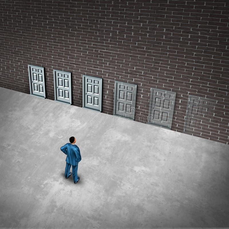 Langzaam verdwijnend Kansen Bedrijfsconcept stock illustratie
