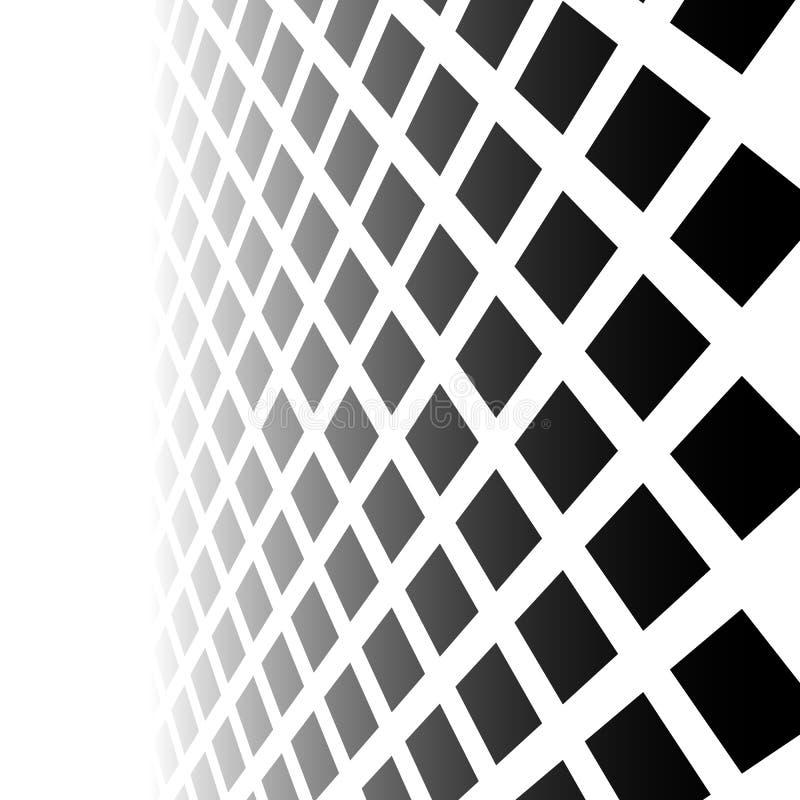 Langzaam verdwijnend mozaïek van vierkanten Verdwijnend patroon in perspectief royalty-vrije illustratie