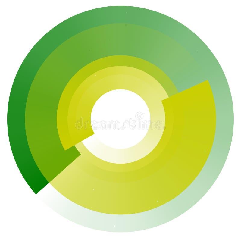 Langzaam verdwijnende concentrische cirkels Geometrisch cirkelelement met trans royalty-vrije illustratie