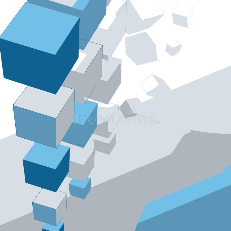 Langzaam verdwijnende dozen vector illustratie