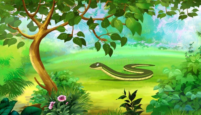 Langzame Worm (fragilis Anguis) Limbless Hagedis stock illustratie