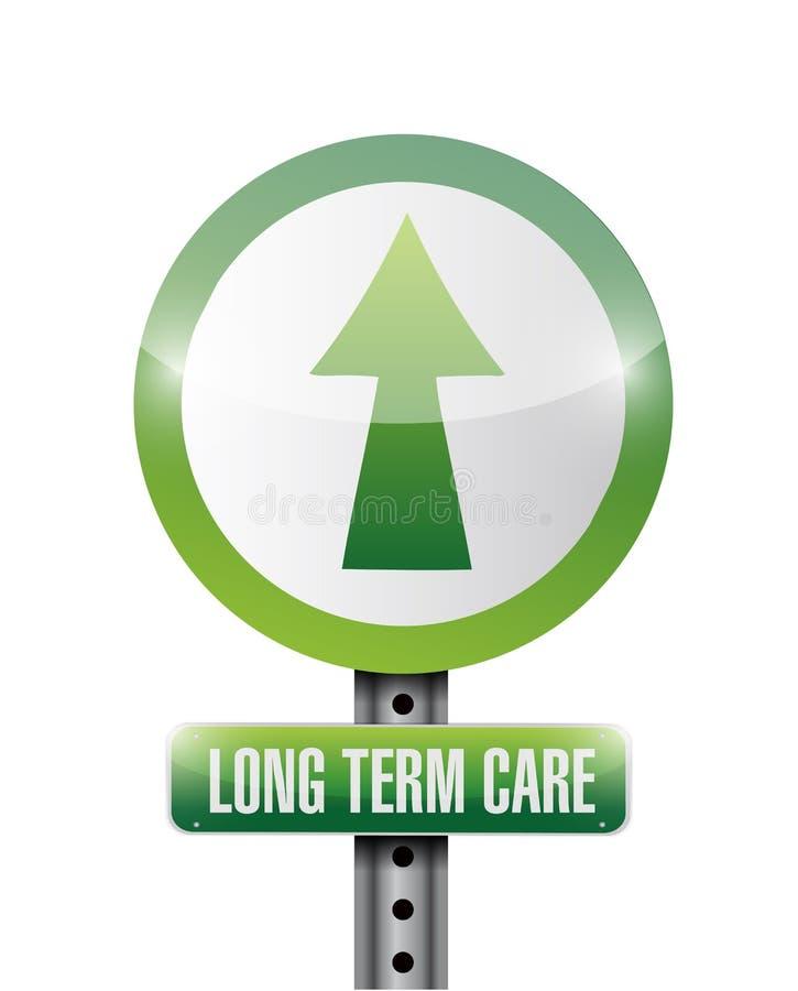 Langzeitpflegeillustrationsdesign stock abbildung