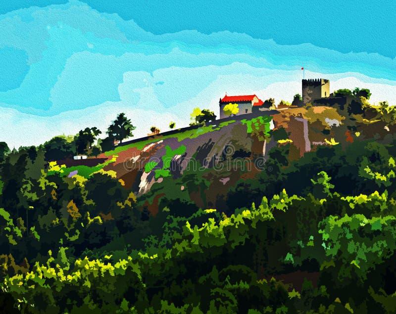 Lanhoso城堡美丽的图画  皇族释放例证